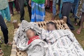 अपने मासूम बच्चे के साथ तालाब में कूदकर महिला ने की आत्महत्या