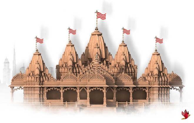 अबू धाबी हिंदू मंदिर में ऑनलाइन सत्संग
