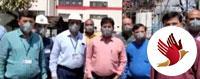 संजय गांधी ताप विद्युत केंद्र मंगठार में कोरोना वायरस से बचाव हेतु बरती जा रही है सतर्कता