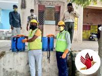 निवाड़ी: कोरोना वायरस के संक्रमण से बचाव हेतु सार्वजनिक क्षेत्रों को किया जा रहा सैनिटाईज