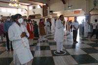 सांसद ने सलकनपुर धाम पहुंचकर मंदिर खोले जाने की घोषणा की