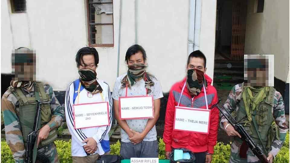 Assam Rifles apprehends three drug peddlers