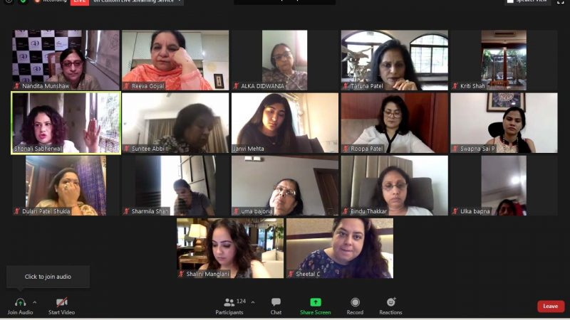"Mrs. Taruna Patel, Chairperson 2020-21, FICCI FLO Ahmedabad Chapter hosts webinar on ""Unmasking the Myths of Diets & Detox"" with renowned nutritionist, Shonali Sabherwal"