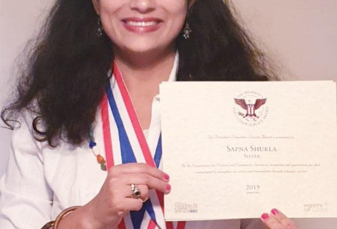 Mrs. Sapna Shukla Become First Gujarati Who Won the Presidential Volunteer Service Award
