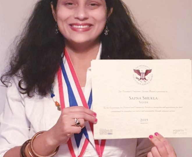 Mrs. Sapna Shukla Become First Gujarati Who Won the Presidential Volunteer Service Award