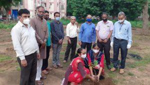 ગાંધીનગરના સૌરાષ્ટ્ર કચ્છ સેવા સમાજ દ્વારા ઝવેરચંદ મેઘાણીની ૧૨૪મી જન્મજયંતી નિમિત્તે વૃક્ષારોપણ