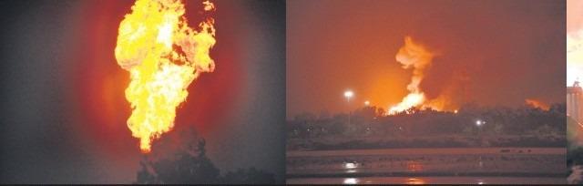 સુરત હજીરાની ONGCમાં વિસ્ફોટ સાથે આગ : કરોડોનું નુકશાન