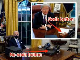 बाइडन ने हटवाया ट्रंप का डाइट कोक वाला बटन